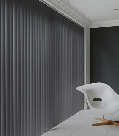Vertical Blinds in colour Grey